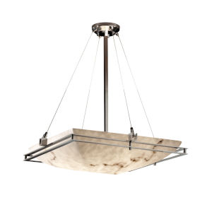 LumenAria Brushed Nickel Six-Light Pendant