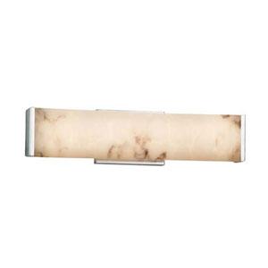 LumenAria - Latitude Polished Chrome 19-Inch LED ADA Bath Vanity with Faux Alabaster Shade