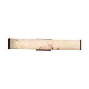 LumenAria - Latitude Dark Bronze 29-Inch LED ADA Bath Vanity with Faux Alabaster Shade