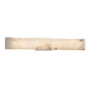 LumenAria - Latitude Brushed Nickel 29-Inch LED ADA Bath Vanity with Faux Alabaster Shade