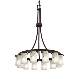 LumenAria Dakota Dark Bronze 12-Light Chandelier