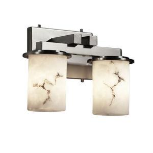 LumenAria Dakota Brushed Nickel 13-Inch Width Two-Light LED Straight Bath Bar