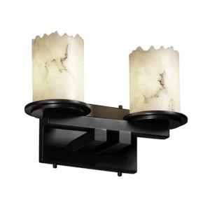LumenAria Dakota Matte Black Two-Light LED Straight Bath Bar