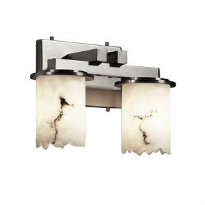 LumenAria Dakota Brushed Nickel Two-Light LED Straight Bath Bar