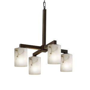 LumenAria Dark Bronze Four-Light Chandelier