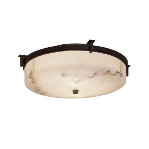 LumenAria Dark Bronze Two-Light Flush Mount