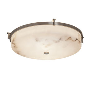 LumenAria Brushed Nickel LED Flush Mount
