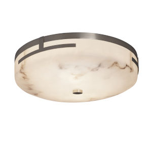 LumenAria Brushed Nickel LED Flush Mount