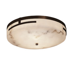LumenAria Dark Bronze 19-Inch LED Flush Mount