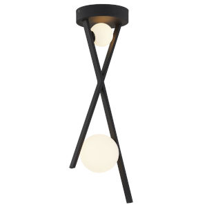 Fusion Stix Matte Black Two-Light LED Pendant