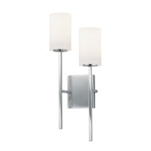 Fusion Polished Chrome Two-Light Wall Sconce