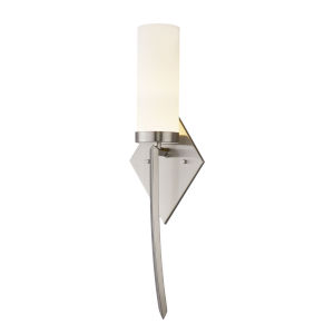 Fusion Pointe Brushed Nickel LED Wall Sconce