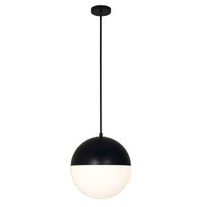 Fusion Matte Black Three-Light Pendant