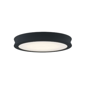 Fusion Bevel Matte Black LED Flush Mount with Opal Glass