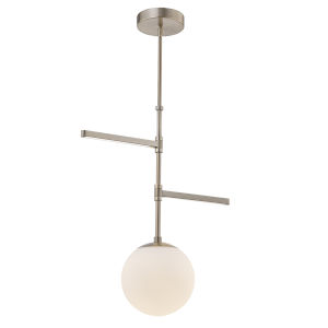 Fusion Brushed Brass Three-Light LED Pendant