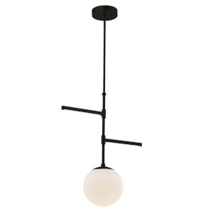 Fusion Matte Black Three-Light LED Pendant