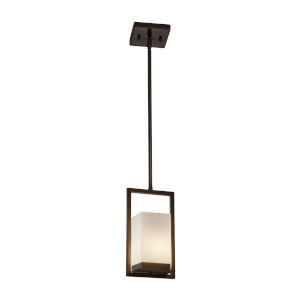 Fusion Dark Bronze LED Mini Pendant with Opal Glass