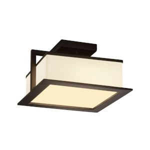 Fusion Dark Bronze LED Flush Mount with Opal Glass