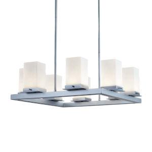Fusion - Laguna Dark Bronze 25-Inch Eight-Light LED Outdoor Chandelier