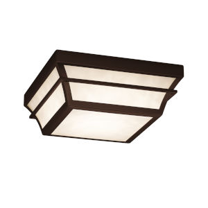 Fusion Dark Bronze 12-Inch LED Flush Mount with Opal Glass