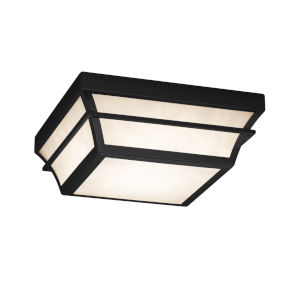 Fusion Matte Black 12-Inch LED Flush Mount with Opal Glass