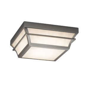 Fusion Brushed Nickel LED Flush Mount with Opal Glass