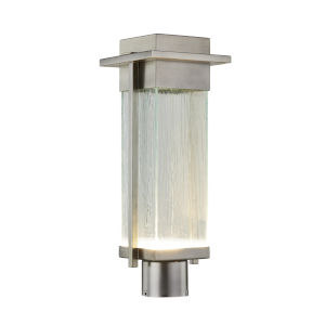 Fusion Brushed Nickel LED Outdoor Post