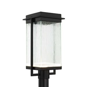 Fusion - Pacific Matte Black Nine-Inch LED Outdoor Post Light