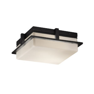 Fusion Matte Black 10-Inch LED Flush Mount with Opal Glass