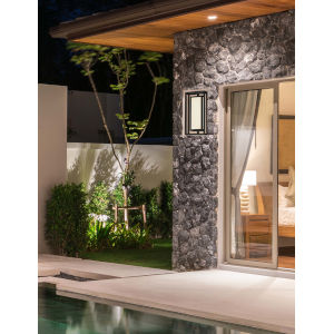 Fusion - Bayview Matte Black Eight-Inch LED ADA Outdoor Wall Sconce