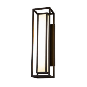 Fusion Dark Bronze Two-Light LED Outdoor Wall Mount