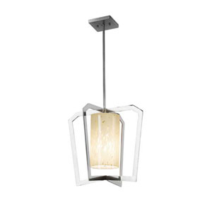 Fusion - Aria Polished Chrome One-Light Chandelier with Droplet Shade
