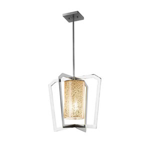 Fusion - Aria Polished Chrome One-Light Chandelier with Mercury Glass Shade