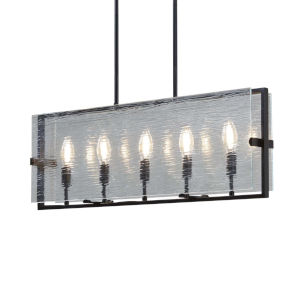 Fusion - Optic Dark Bronze Four-Inch Five-Light Chandelier with Rain Shade