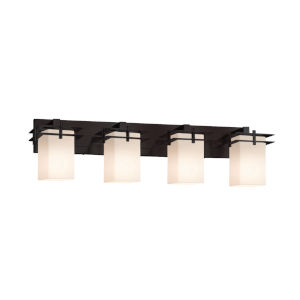 Fusion Metropolis Matte Black Four-Light LED Bath Vanity
