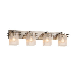 Fusion Metropolis Brushed Nickel Four-Light Bath Vanity