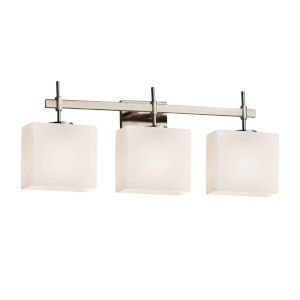Fusion Union Brushed Nickel Three-Light Bath Vanity