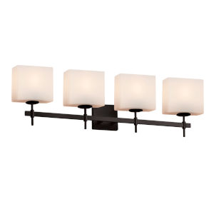 Fusion Union Matte Black Four-Light LED Bath Vanity