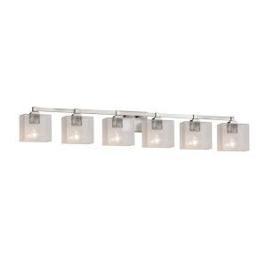Fusion Regency Brushed Nickel Six-Light LED Bath Vanity