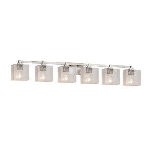 Fusion Regency Brushed Nickel Six-Light Bath Vanity
