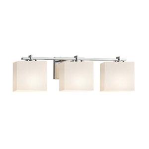 Fusion - Era Polished Chrome Three-Light LED Bath Bar with Rectangle Opal Shade