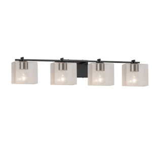 Fusion Era Matte Black Four-Light LED Bath Vanity