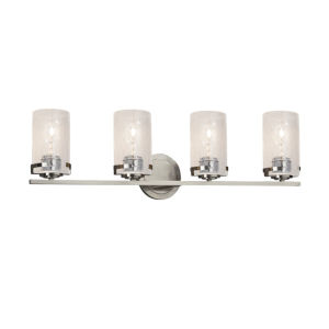 Fusion Atlas Brushed Nickel Four-Light LED Bath Vanity