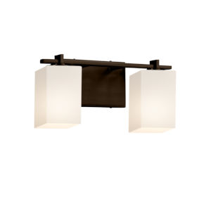 Fusion Dark Bronze Two-Light Bath Vanity
