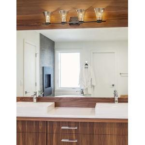 Fusion - Malleo Matte Black 33-Inch Four-Light LED Bath Vanity