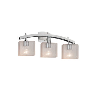 Fusion Archway Brushed Nickel Three-Light LED Bath Vanity