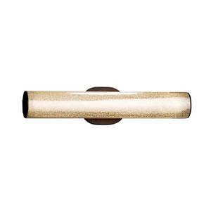 Fusion - Eliptical Dark Bronze LED ADA Bath Vanity with Mercury Glass Shade