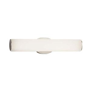Fusion - Eliptical Brushed Nickel LED ADA Bath Vanity with Opal Shade
