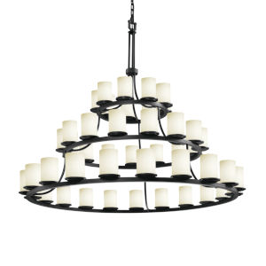 Fusion Dakota Matte Black 45-Light 3-Tier Chandelier