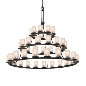 Fusion Dakota Matte Black 45-Light Chandelier